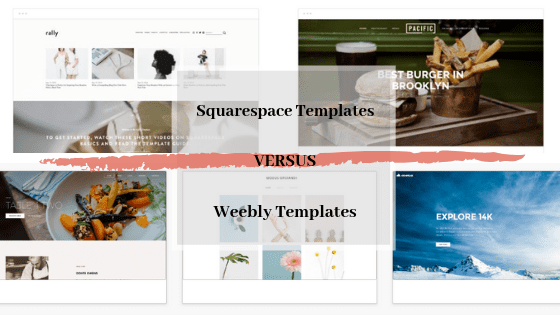 squarespace versus weebly templates